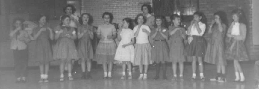 Girl Scout investiture 1959 - Copy