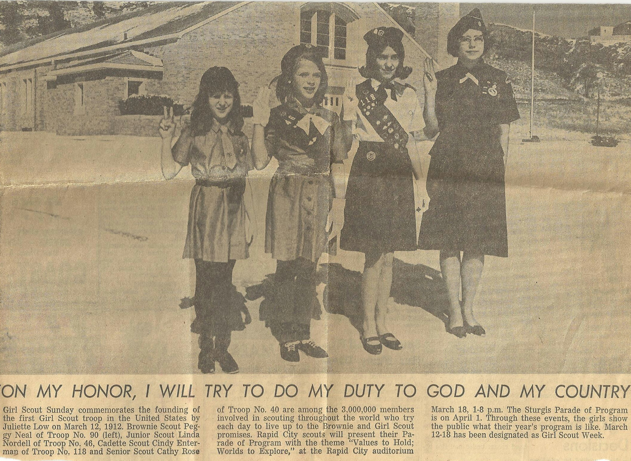 Senior Girl Scout 1967