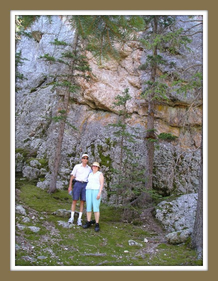 Rose and Rob in Black Hills, SD Mountains